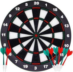 ATDAWN 16.4 Inch Safety Dart Board Game